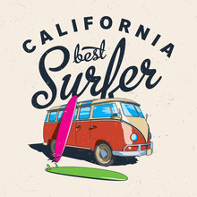 California Best Surfer Poster