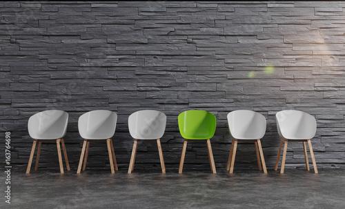 der grüner Stuhl