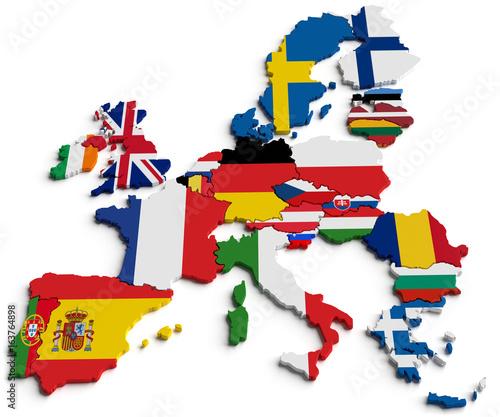 Europa und Flaggen