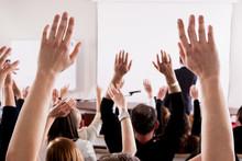 Large Group Of Seminar Audienc...