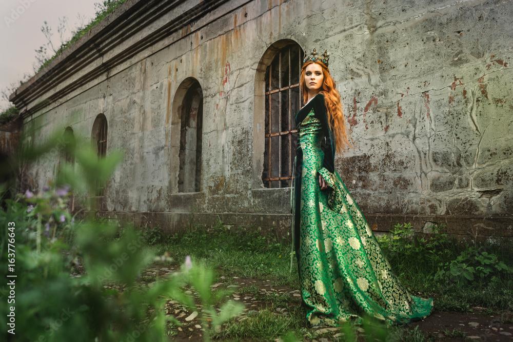 Fototapeta Ginger queen near the castle