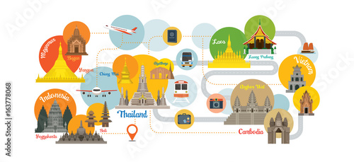 Foto  Southeast Asia Travel Infographic