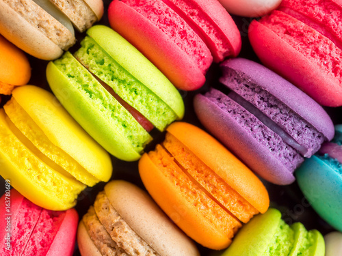 Photographie  French colorful macarons 3