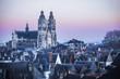 canvas print picture - Cathédrale Saint-Gatien, ville de Tours, Indre-et-Loire, France
