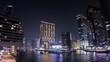 Dubai Marina night timelapse, long exposure with high quality frames