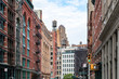 Historic buildings along Franklin Street in the Tribeca neighborhood of Manhattan, New York City NYC