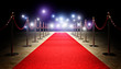 canvas print picture - red carpet and barrier