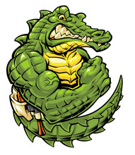 Gator Mascot Designed And Illustrated By Myself.