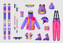 Set Of Snowboarding Gear, Clot...