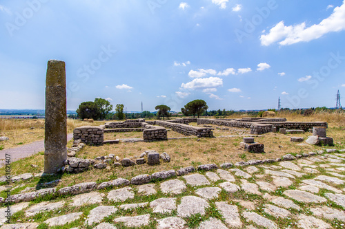 Photo  View of the archaeological site of Lucus Feroniae, near Rome, Italy