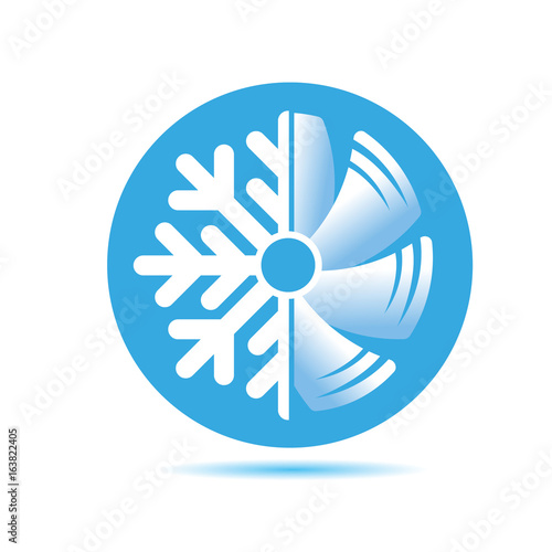 Air conditioner icon. flat design Wallpaper Mural