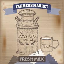Vintage Farmers Market Label W...