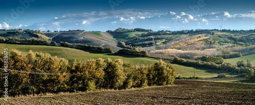 Soft hills between Emilia romagna e Marche, Italy.