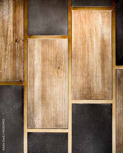 Valokuvatapetti Abstract wood and tile backdrop pattern