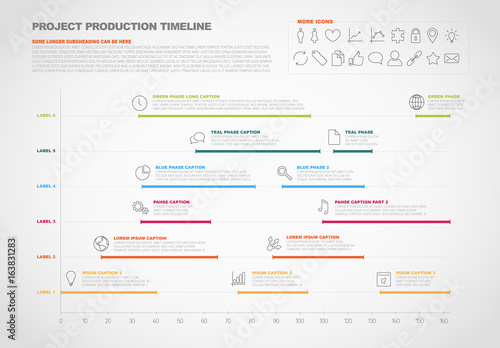project timeline infographic
