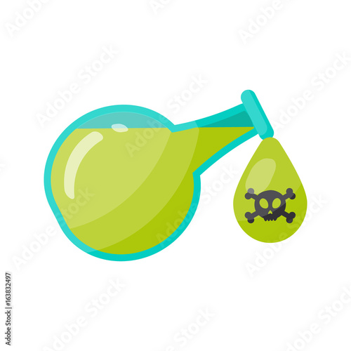 Fotografía  Poison bottle vector flat icon