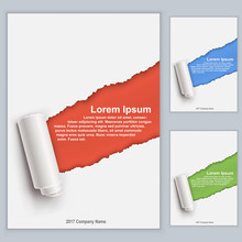 Title Page Template With Torn Piece Effect