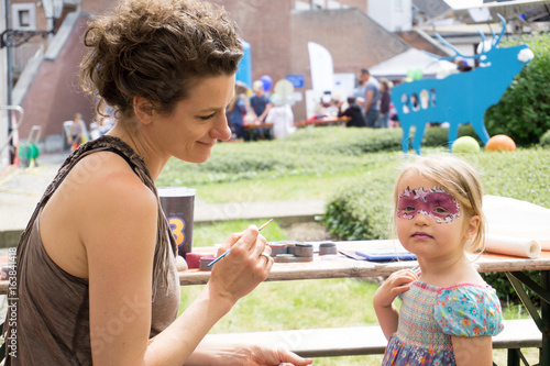 Spoed Foto op Canvas Carnaval Geschminktes Mädchen
