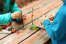 Children Sculpt From Plasticine.