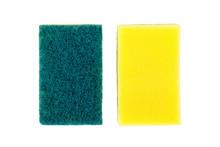 Sponge Dish On White Background