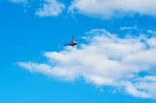Helicopter On The Bright Summer Day