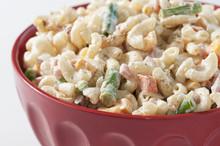 Macaroni Salad In Red Bowl