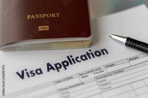 Fotografie, Obraz  Visa application form to travel Immigration a document
