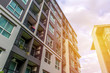 Leinwanddruck Bild - Modern apartment buildings exteriors or Contemporary Architecture Office In The City