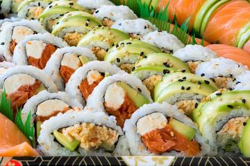 Fototapeta Sushi Sushi Roll Platter Closeup