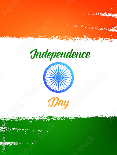 Independence Day Of India Template For Card Invitation