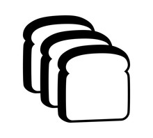 Three Slices Of Sliced Bread Flat Vector Icon For Food Apps And Websites