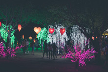 Hanging Lanterns Heart Shape O...