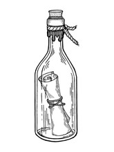 Message In Bottle Engraving Ve...