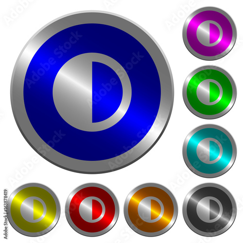 Photo Contrast control luminous coin-like round color buttons