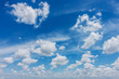 Blue sky with white clouds , Sky background.