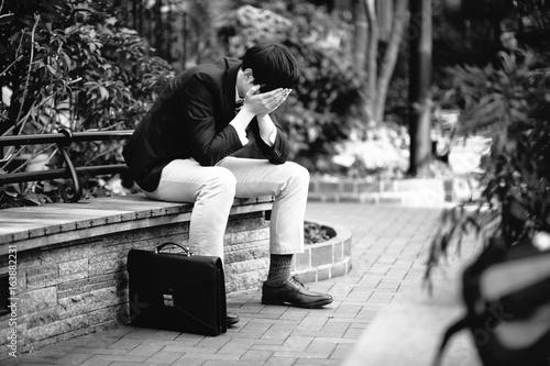 Fotografie, Obraz  depressed young businessman