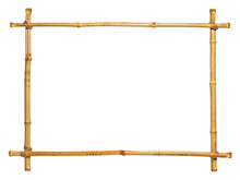 Bamboo Frame Isolated On White...