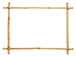 bamboo frame isolated on white background