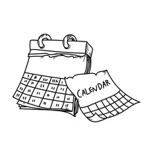 Calendar For Planning Freehand...