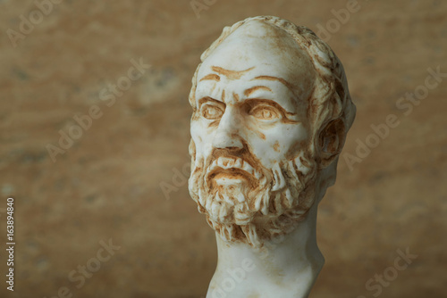 Fotomural Statue of Demokritus,ancient greek philosopher.