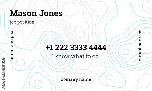 Mint And Gray Business Card Template Us Standard Size 35x2 In