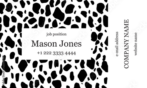 Black and white business card template strict minimalist style black and white business card template strict minimalist style creative spots on the background maxwellsz