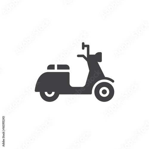 Scooter icon vector, filled flat sign, solid pictogram isolated on white. Delivery symbol, logo illustration. Pixel perfect graphics Wall mural