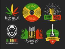 Reggae Logos. Vector Badges Fo...