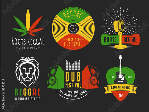 Fotomural Reggae logos