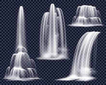 Realistic Waterfalls On Transp...