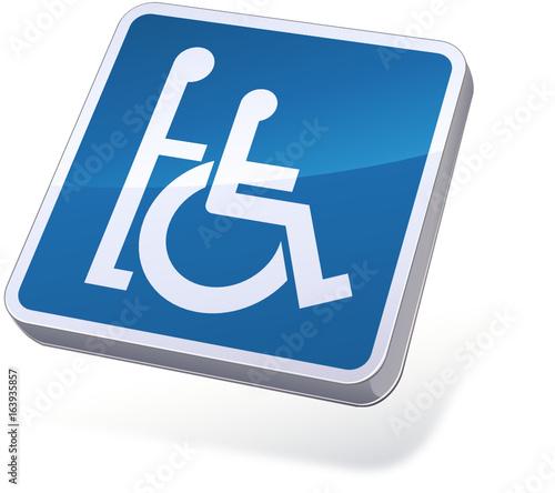 Panneau accompagnateur pour handicapés (3D) Canvas Print