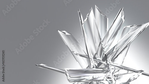 Fotografie, Obraz  Abstract Crystal Glass Pieces