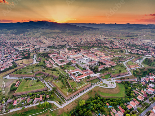 Photo  Alba Iulia vauban style medieval walled fortress