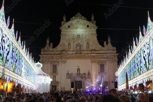 Valokuvatapetti Le luci della festa di paese